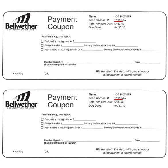 payment coupon