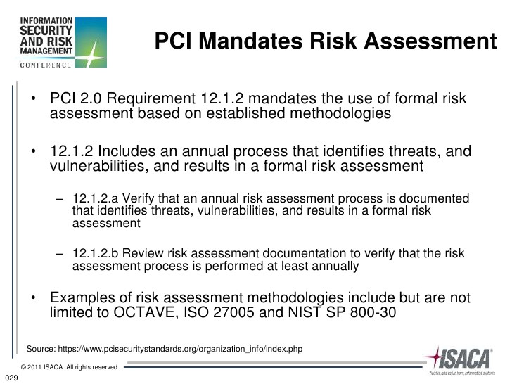 Pci Dss Risk assessment Template Risk Management Practices for Pci Dss 2 0