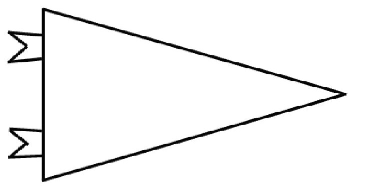 college pennant cliparts