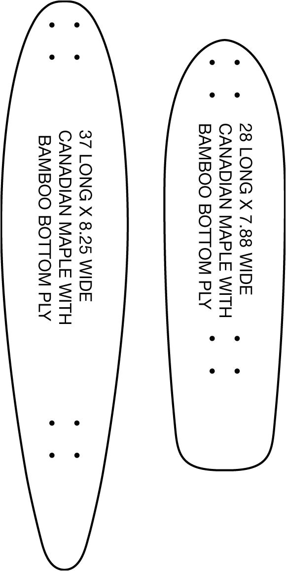longboard cruiser template
