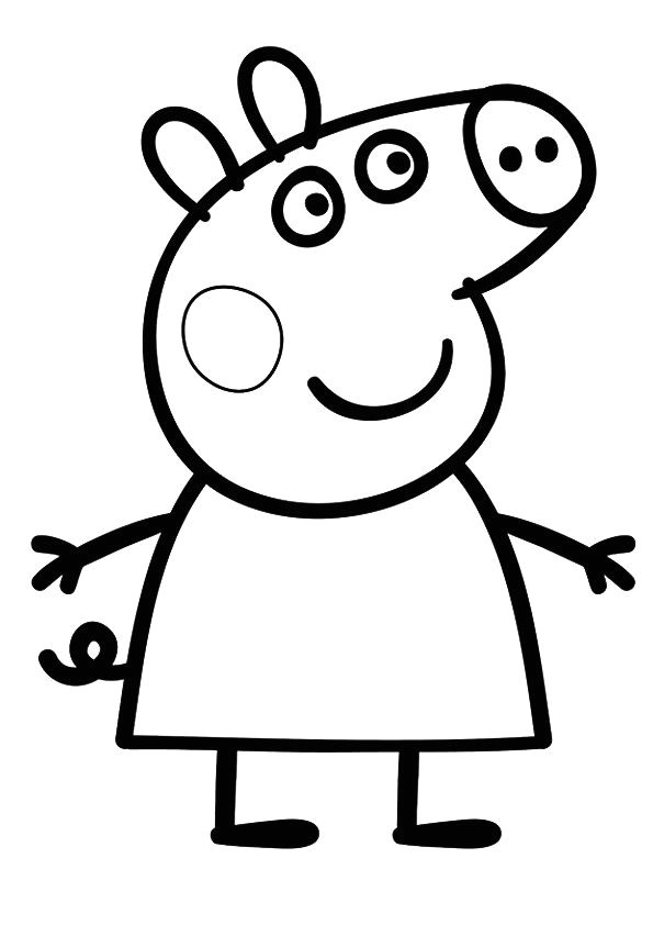 peppa pig drawing