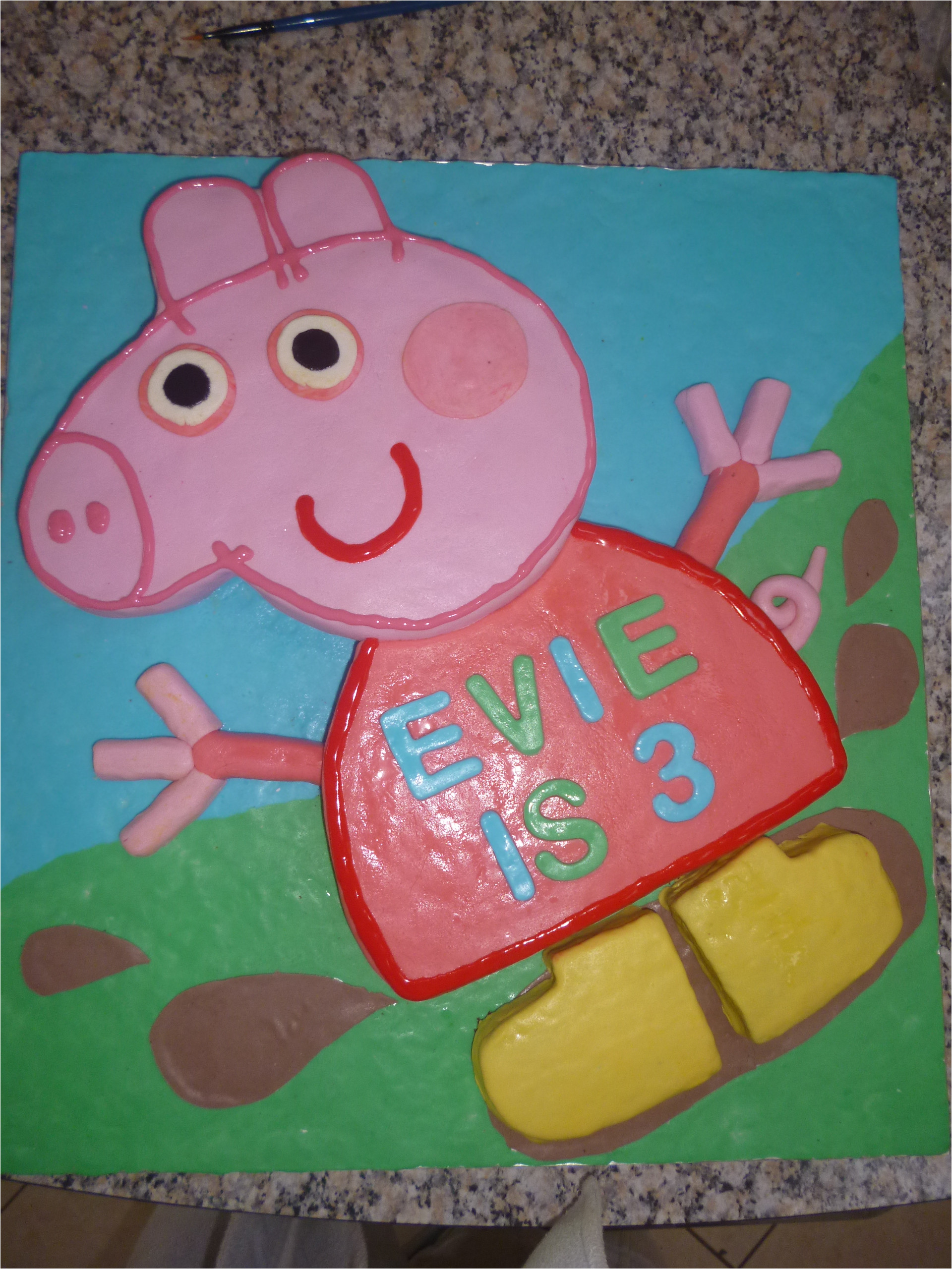 Peppa Pig Cake Template Free Peppa Pig Templates Cake Ideas and Designs