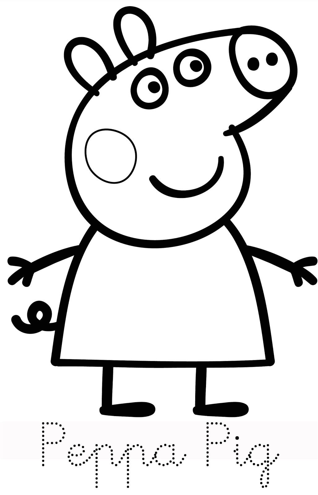 Peppa Pig Drawing Templates Baby Potatoes Family Of Peppa Pig