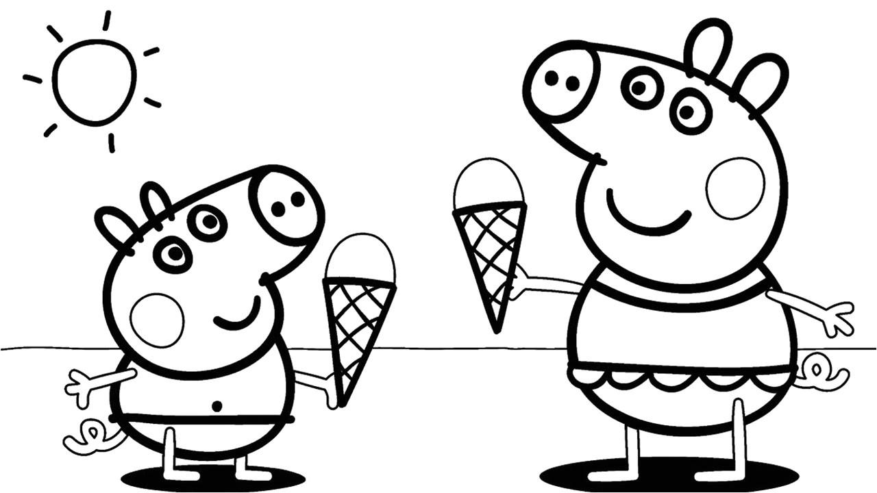 Peppa Pig Drawing Templates Desenhos Para Colorir Peppa Pig 45 Opcoes Para Imprimir