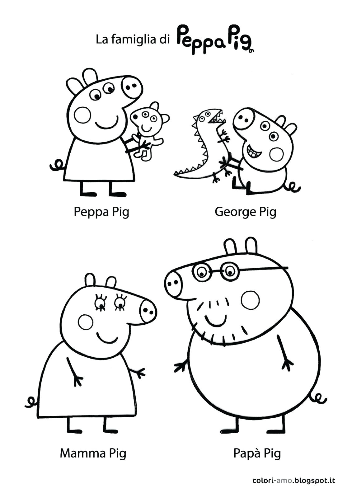 peppa pig drawing template