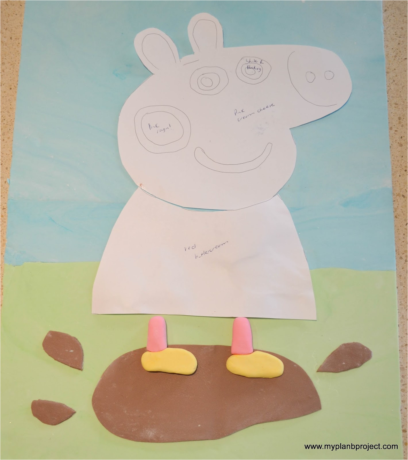 Peppa Pig Template for Cake My Plan B Project Peppa Pig Birthday Cake