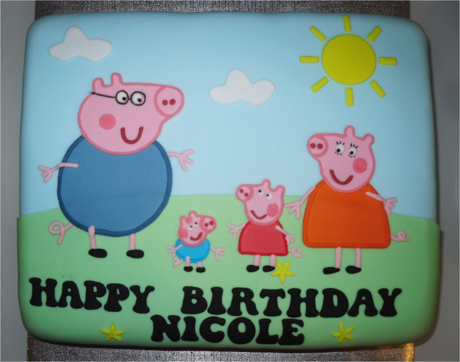 Peppa Pig Template for Cake Peppa Pig Templates Cake Ideas and Designs