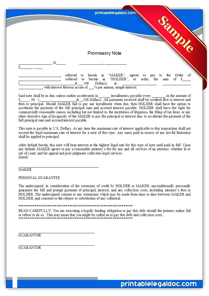 personal guarantee agreement template