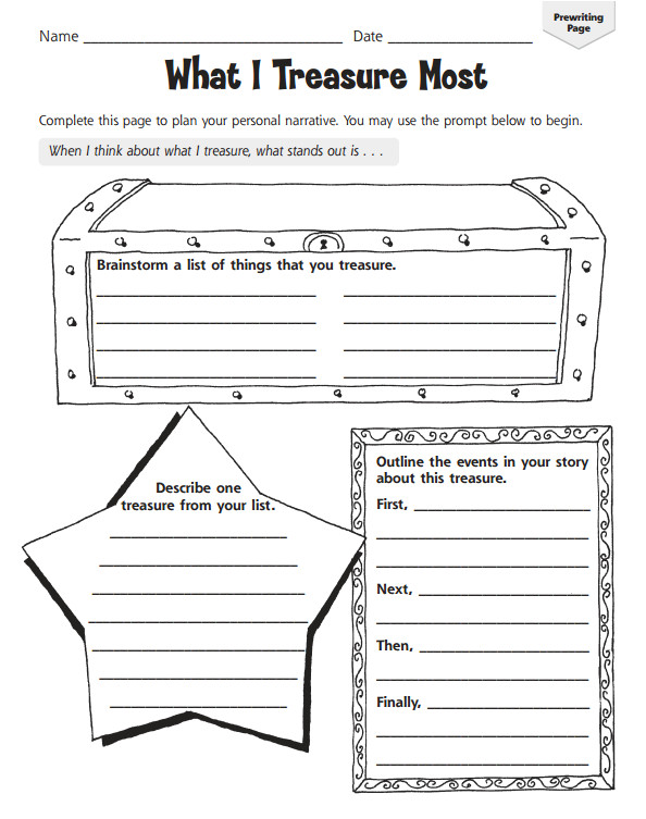 graphic organizers personal narratives