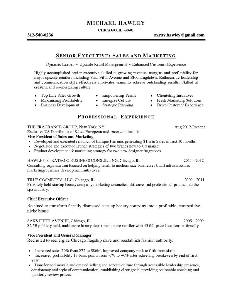 personal shopper resume