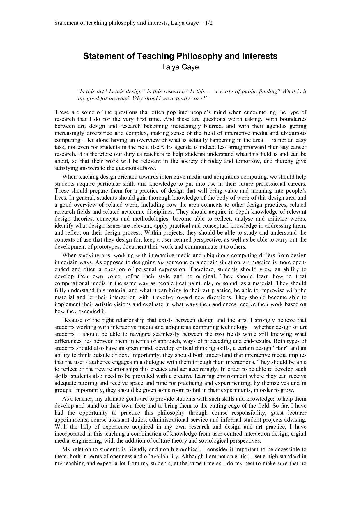 Personal Statement Template for Teaching Personal Vision Statement Education Buy Paper