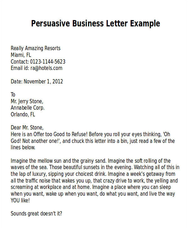 writing a sales letter tips examples