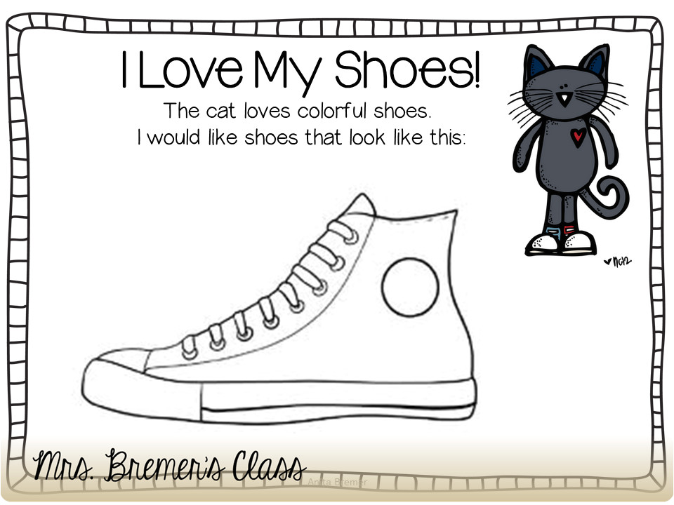 Pete the Cat Shoe Template Mrs Bremer 39 S Class Pete the Cat