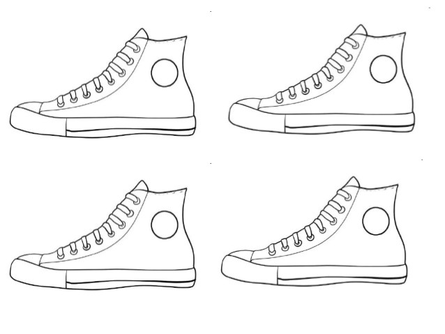 Pete the Cat Shoe Template Pete Cat Shoes Coloring Pages