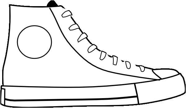 clipart white shoe 4