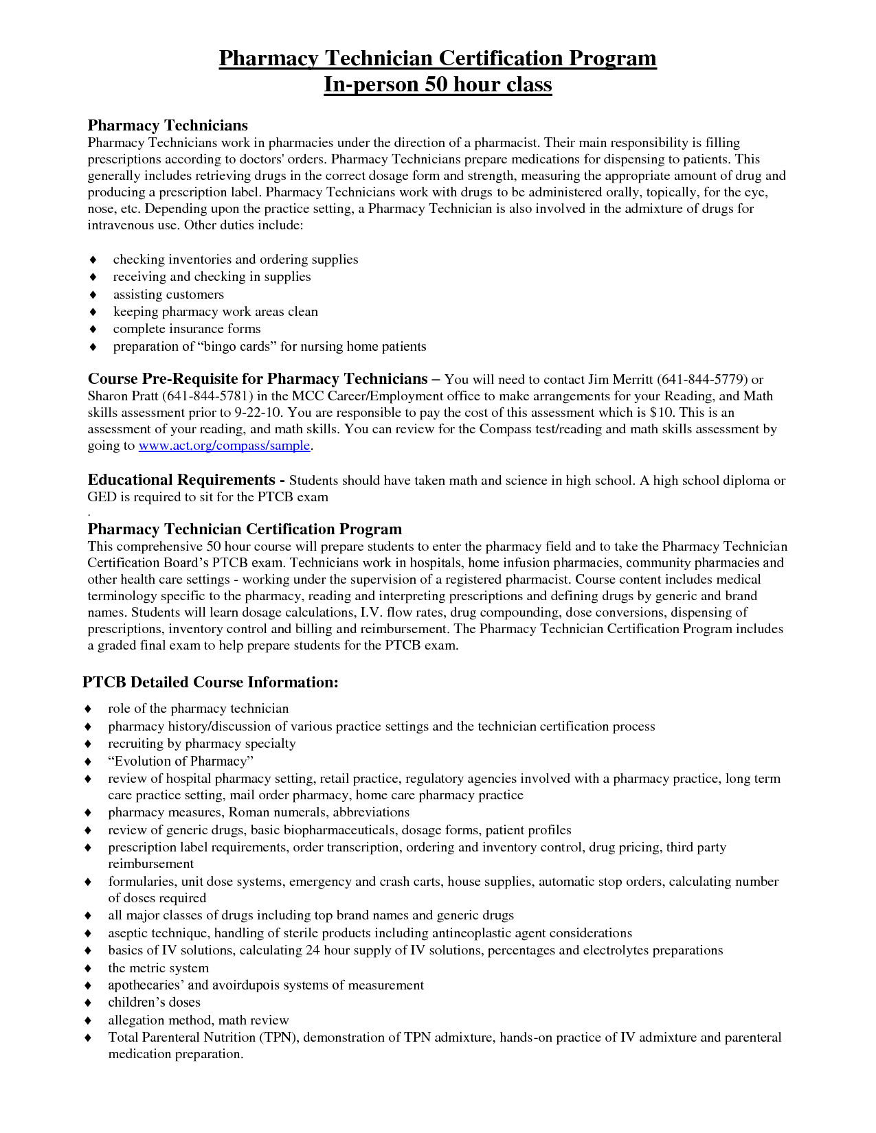 certified pharmacy technician resume