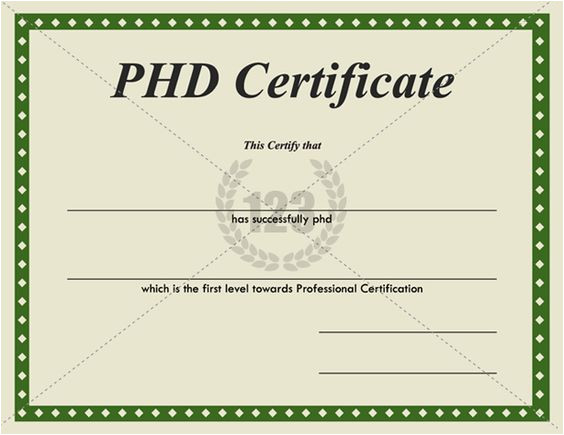 Phd Diploma Template Templates and Certificate Templates On Pinterest
