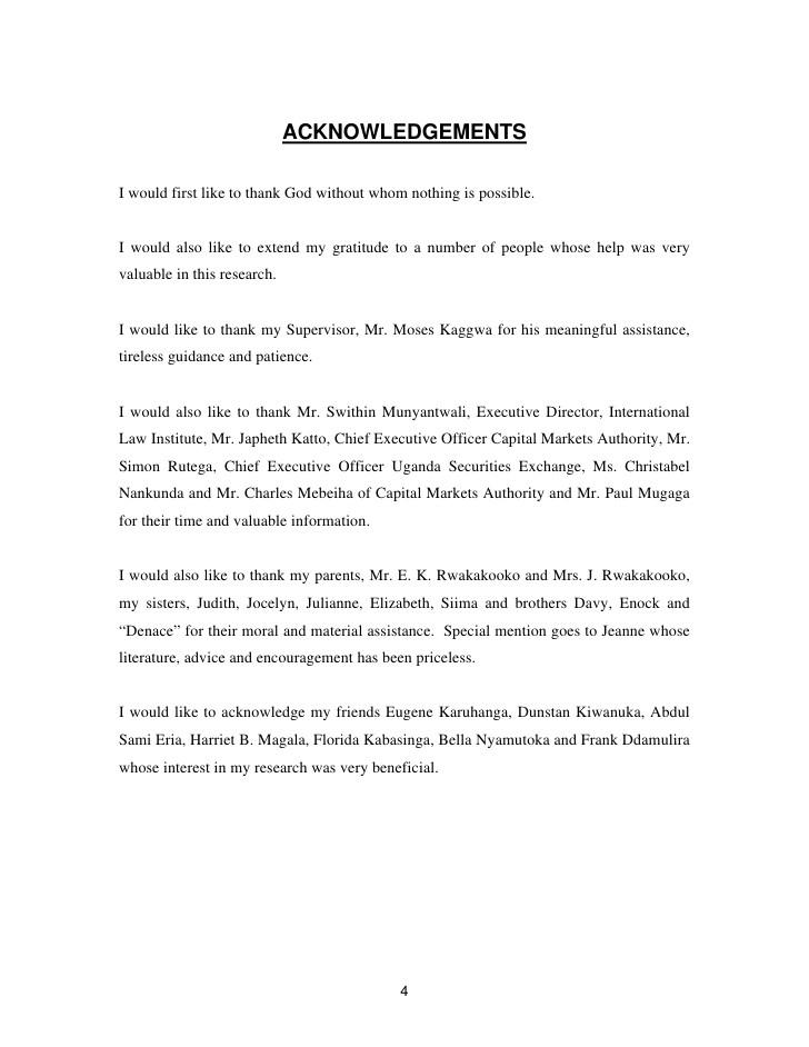 best acknowledgement for dissertation
