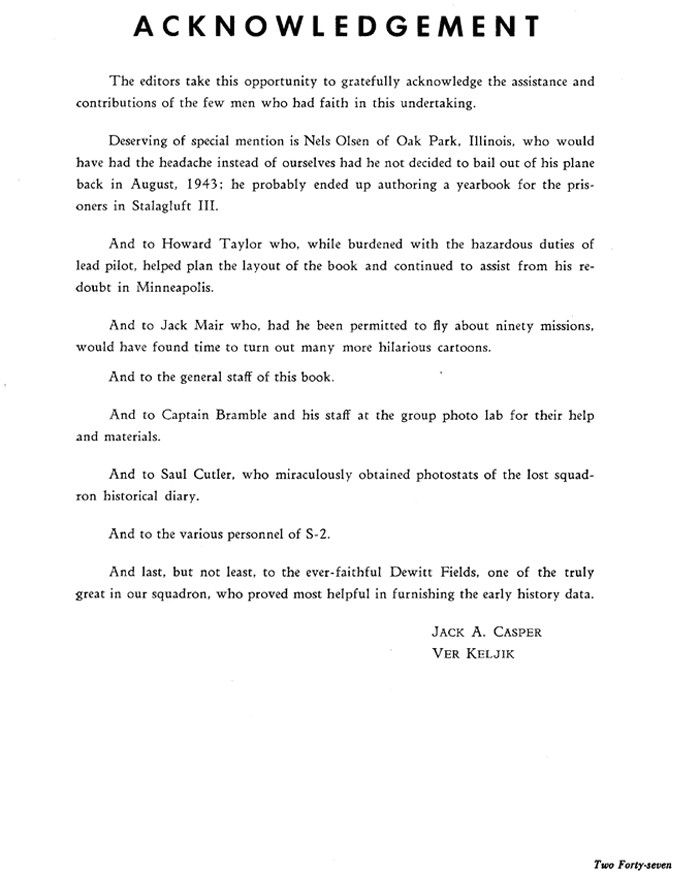 Phd thesis Acknowledgement Template the 489th Bombardment Squadron Book