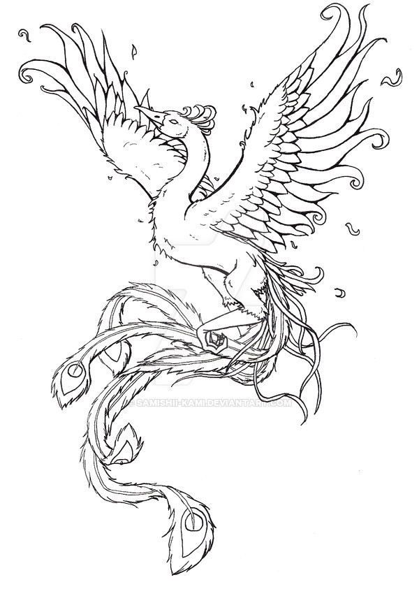 phoenixfishbird phoenix tattoo commission 286057334