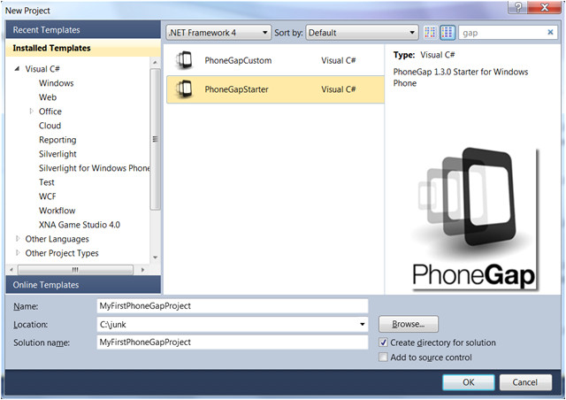 how to create html apps on windows phone with pho