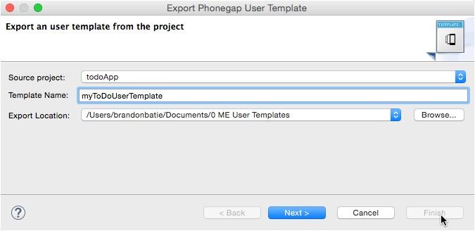 custom phonegap templates