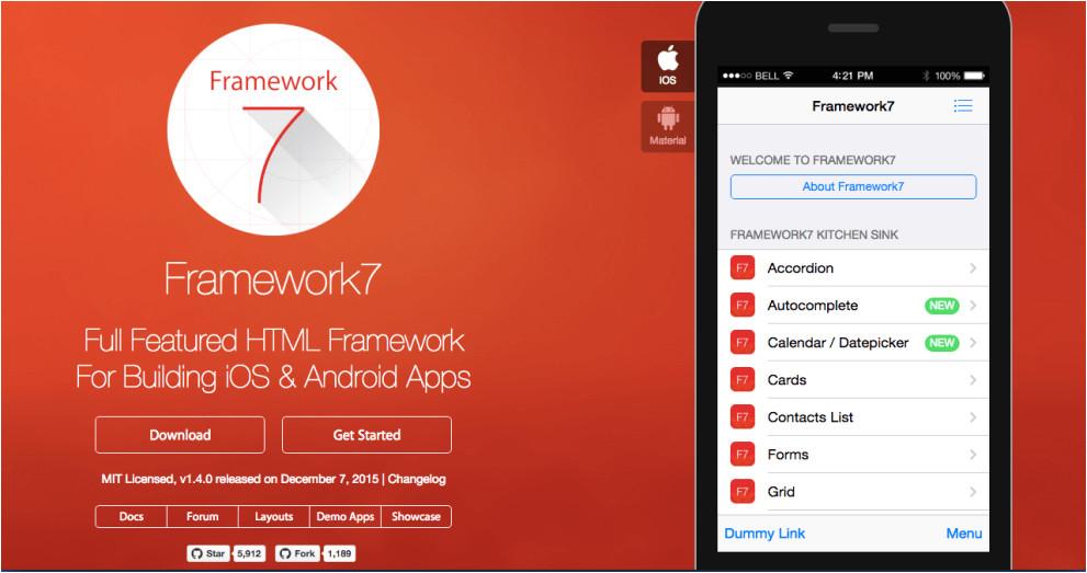 Phonegap Ui Template Best Ui Framework for Phonegap Apache Cordova