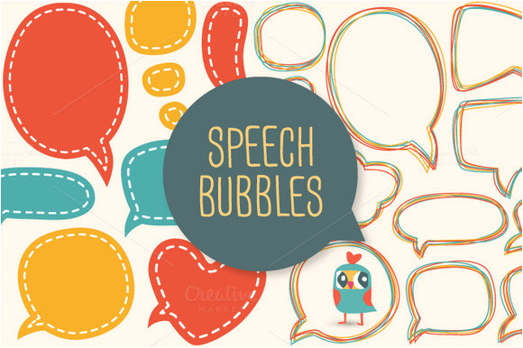 words speech bubbles photobooth props template