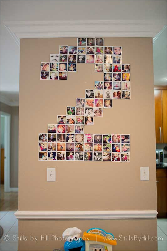 diy number photo collage