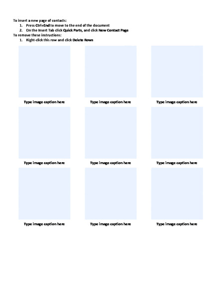 Photo Contact Sheet Template Word Photo Contact with Captions Sheet Template Word Templates