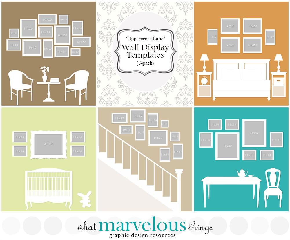 Photo Wall Display Templates Wall Display Templates Uppercross Lane