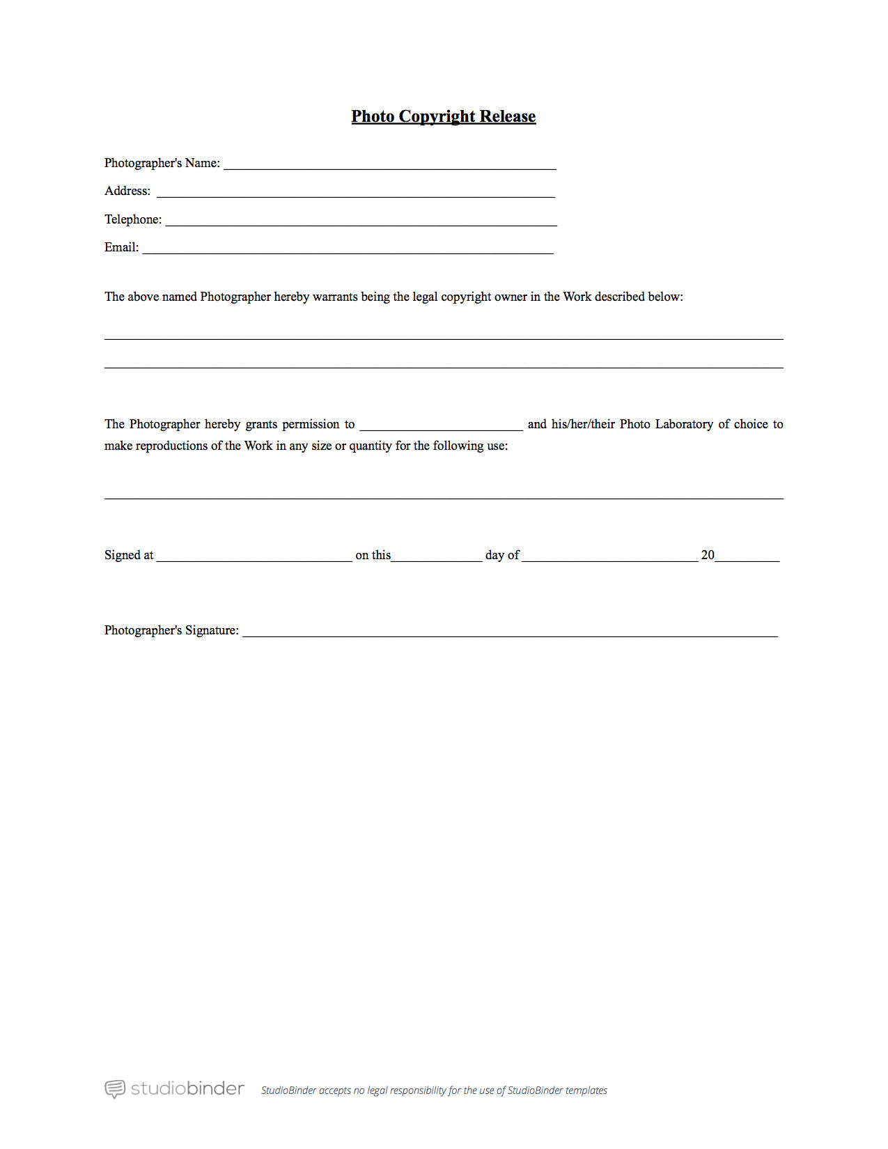 Photographic Release form Template why You Should Have A Photo Release form Template