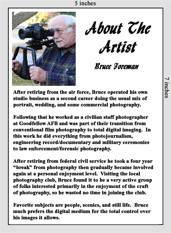 Photography Bio Template Untitled Document Cvphotoclub org