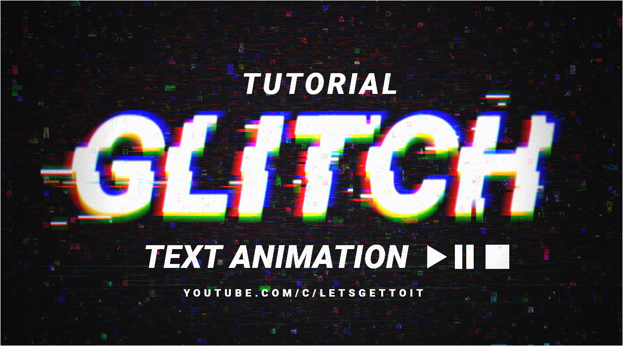 create cool glitch text animation in photoshop