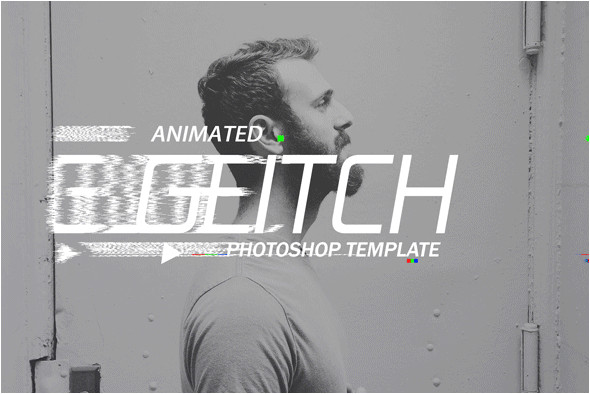 Photoshop Animation Templates Gif Animated Glitch Photoshop Templates by Safisakran