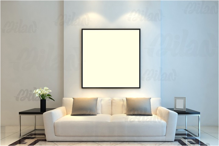 95574 framed photo art mockup template styled stock photography living room sofa 01