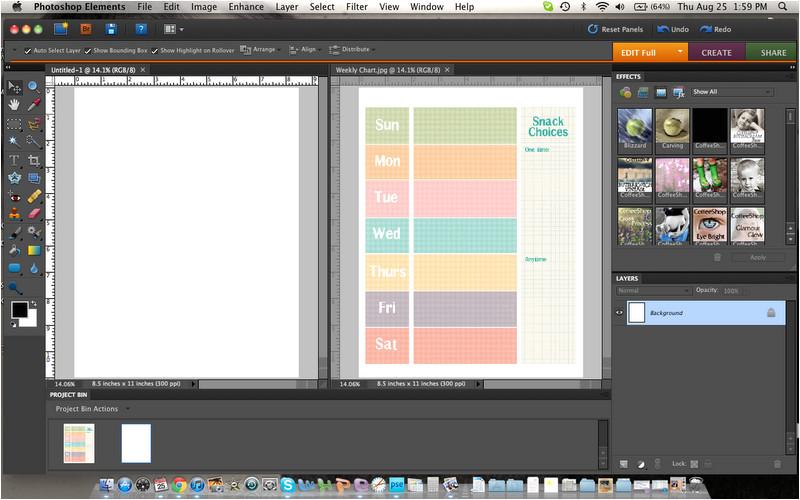 Photoshop Schedule Template Weekly Schedule Template Photoshop Elements Tutorial