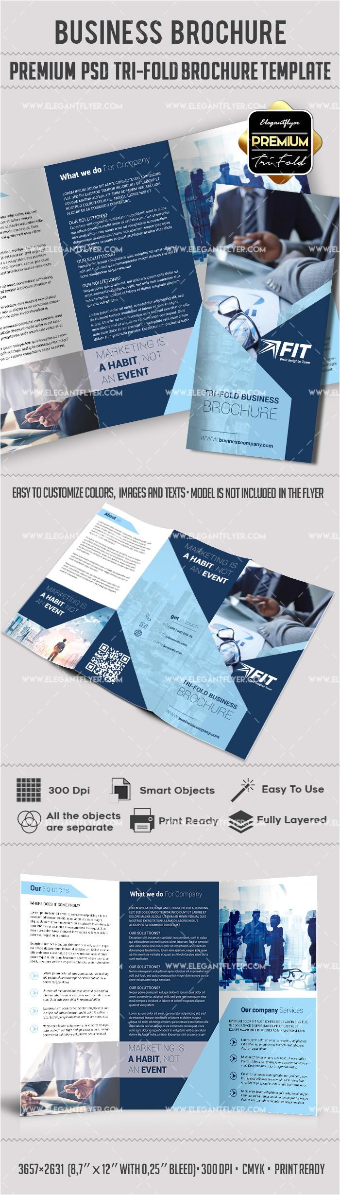 business premium tri fold psd brochure template 9