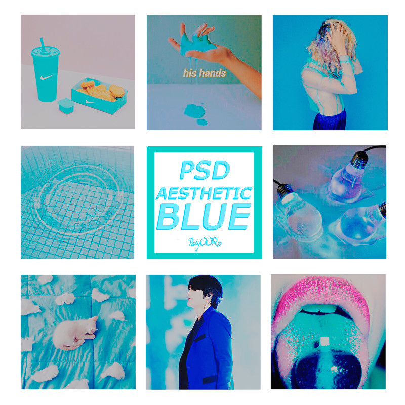 psd aesthetic blue 564017077