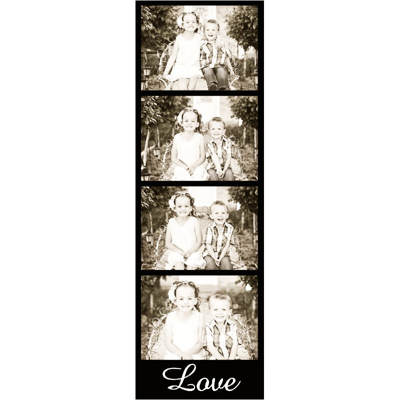 photo booth strip template set