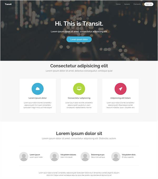 free php website templates