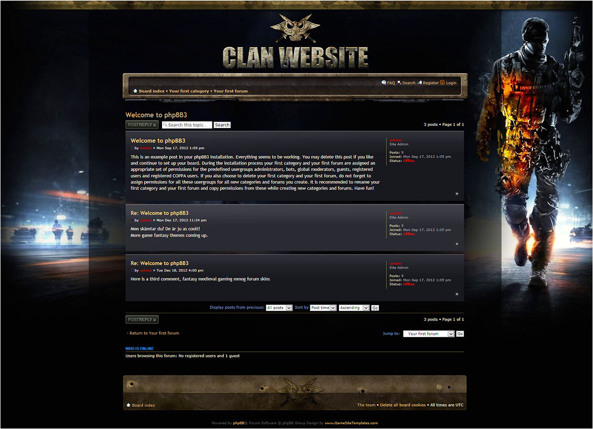 medal of honor phpbb skin