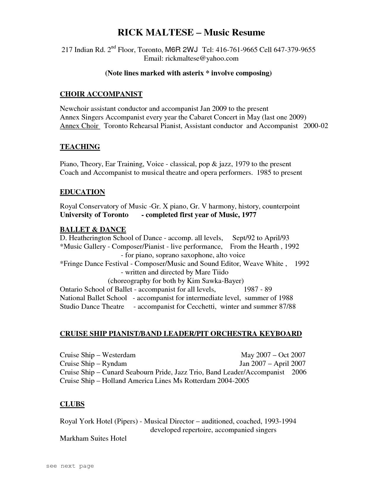 pianist resume sample awesome 3rd grade book report cover page thesis on personality analysis of
