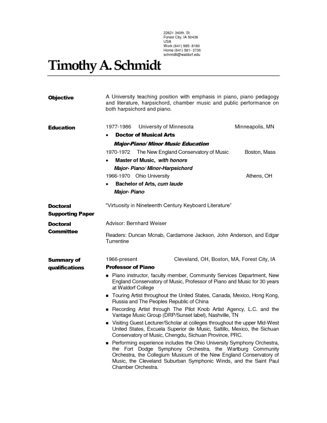 Pianist Resume Sample Piano Teacher Resume Sample Resume Sample