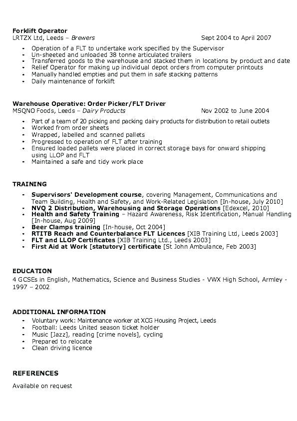 Pick Packer Cover Letter Warehouse Packer Resume Packer Job Description Resume