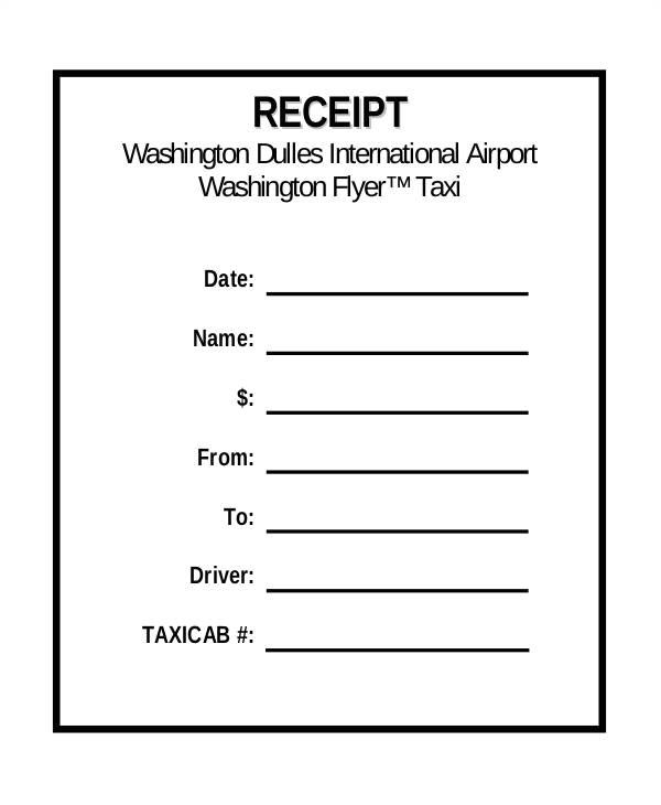 pick up receipt template