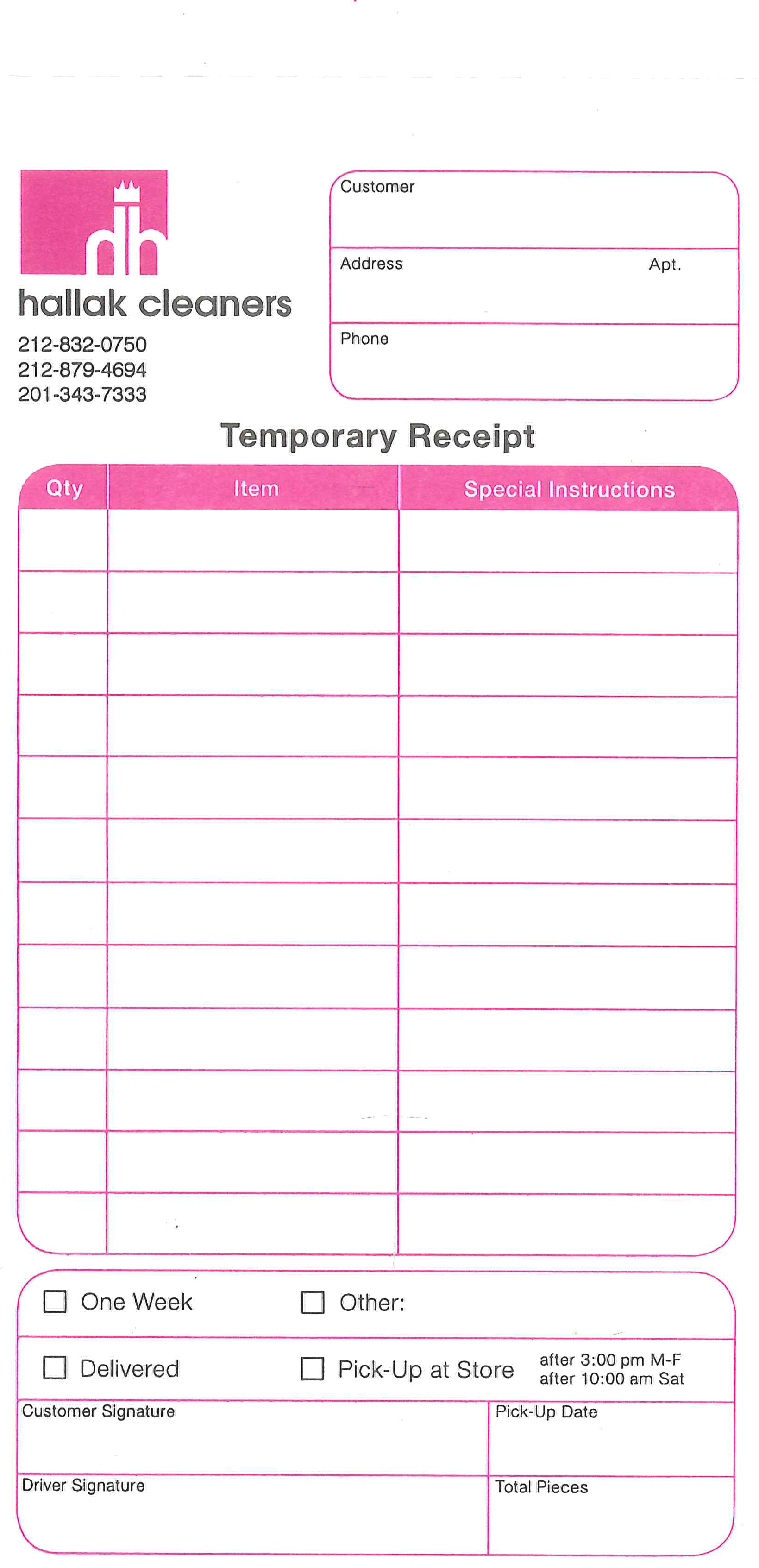 template house cleaning request form