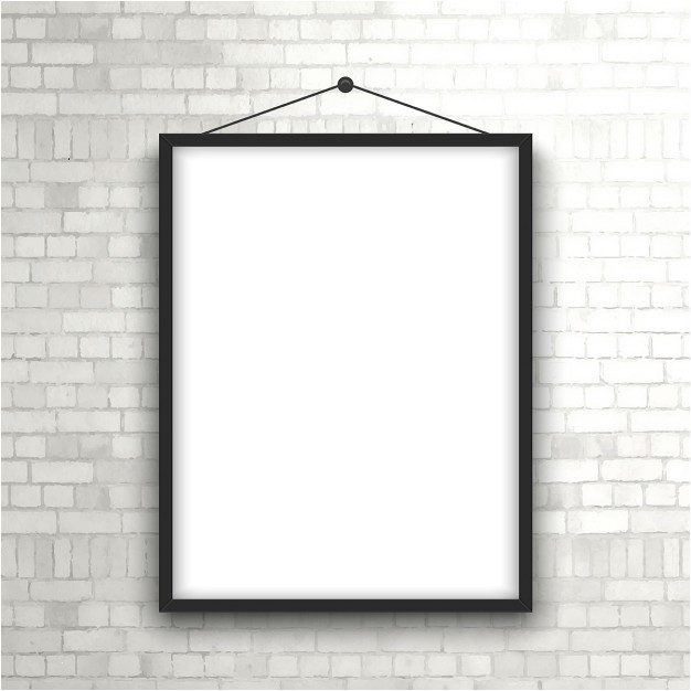 blank picture frame hanging on a brick wall 848863