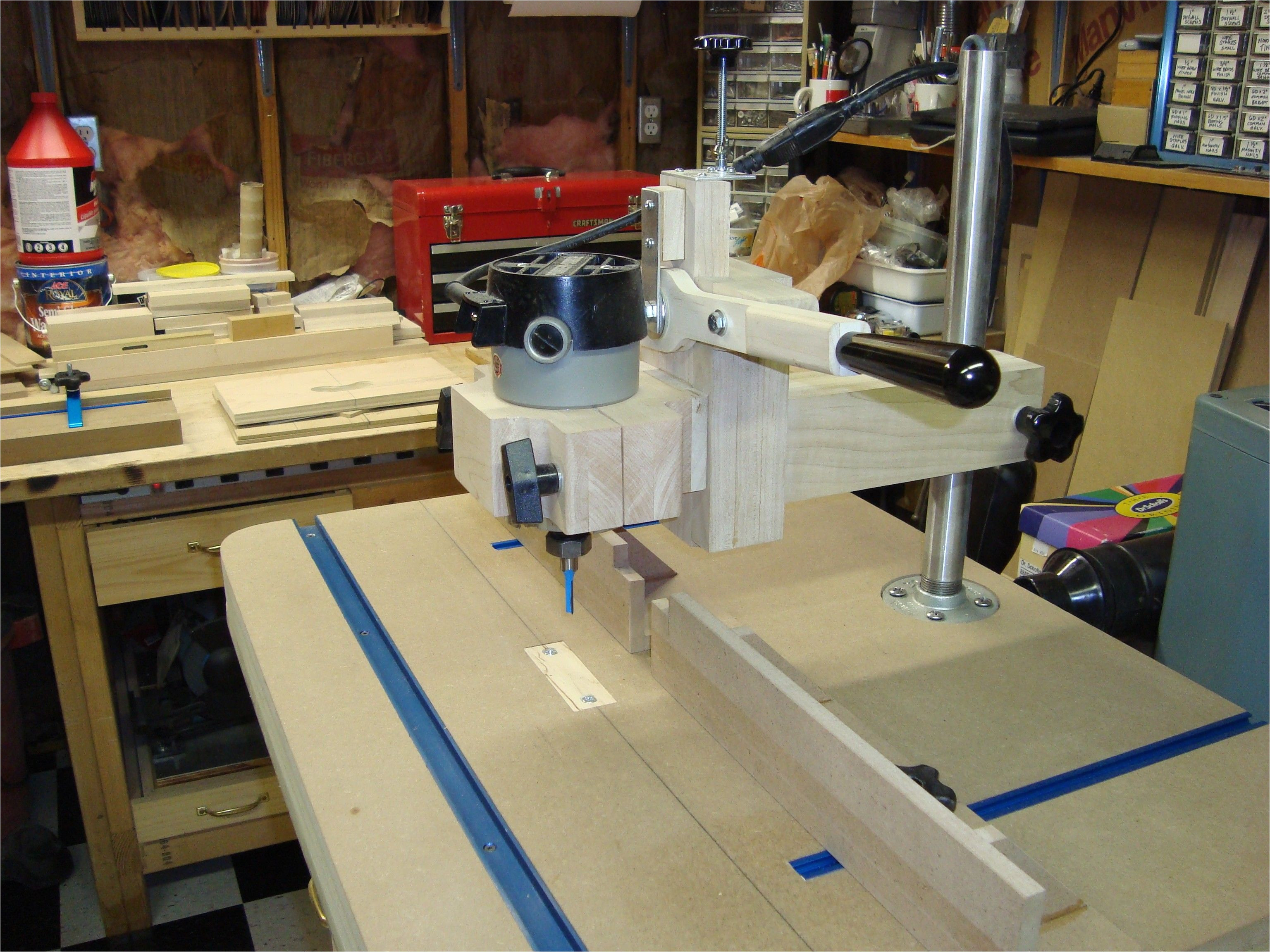 Pin Router Templates Overarm Router Jig Using A Beautifully Simple Lever Arm