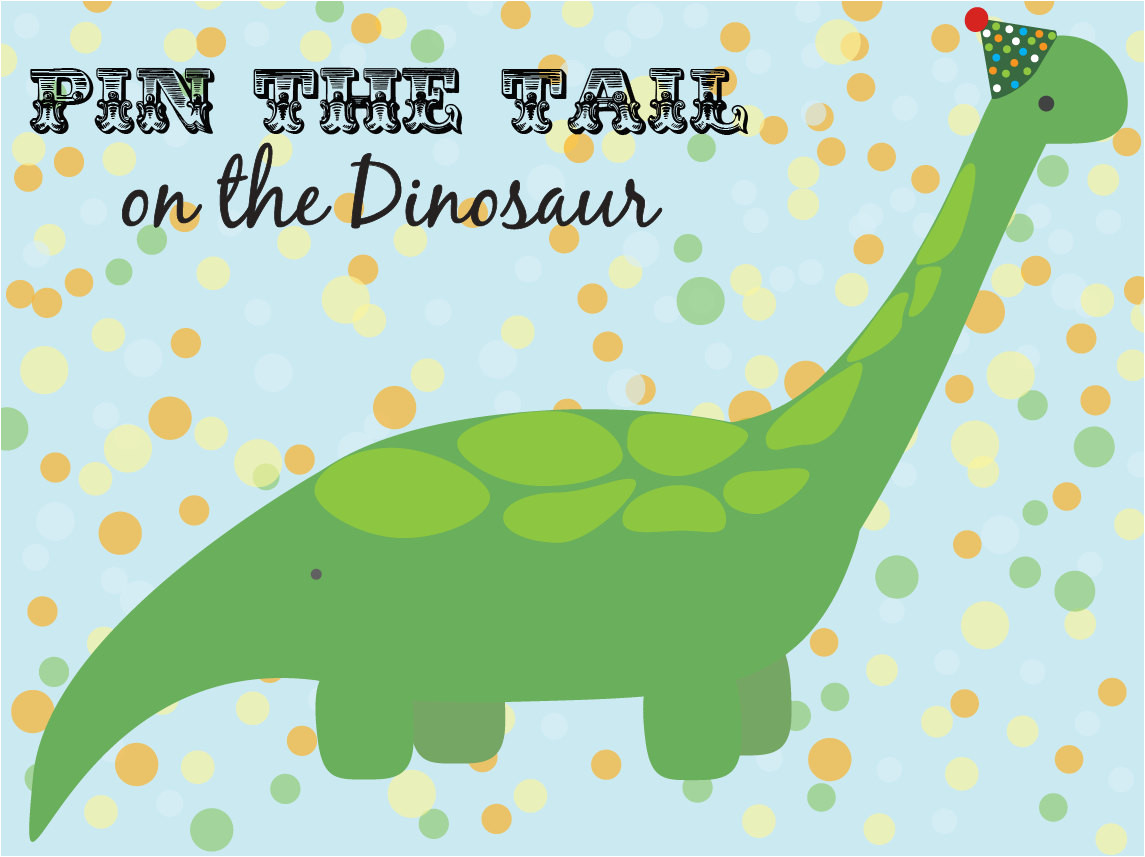 Pin the Tail On the Dinosaur Template Pin the Tail On the Dinosaur